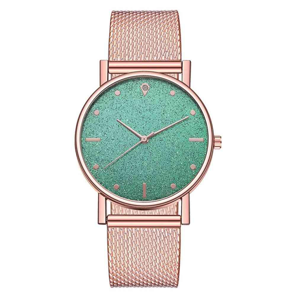Watch Women Dress Stainless Steel Band Analog Quartz Wristwatch