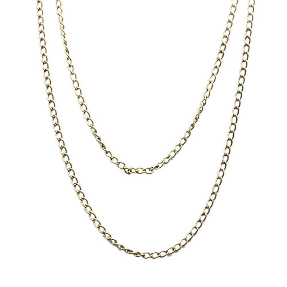 Sweater Pocket Watch Necklace Chain