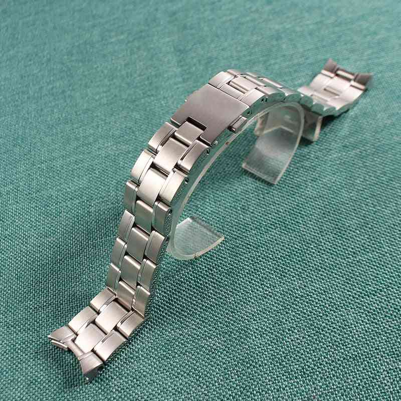 Men's Stainless Steel Strap Band Bracelet Fit Tag Heuer Watches (silver)