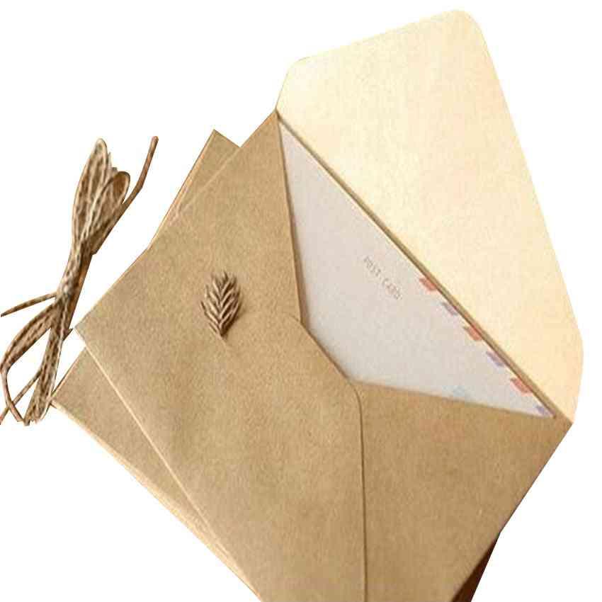 Rough Grain Card, Multifunction Kraft Paper Envelopes For Wedding, Birthday Party