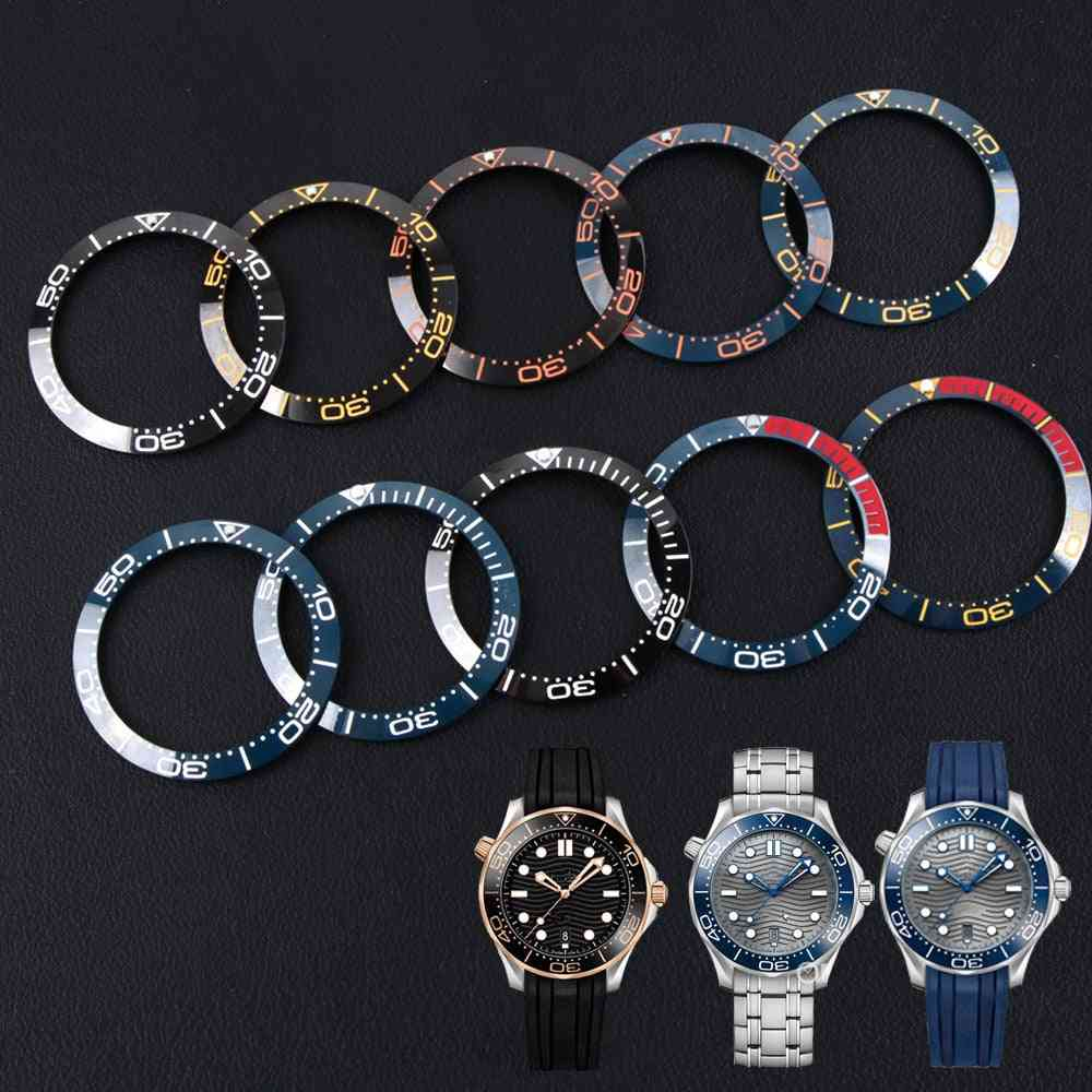 Ceramic Insert Dial Ring For Omega Bezel Sea Master 007, Watches Replace Accessories Parts