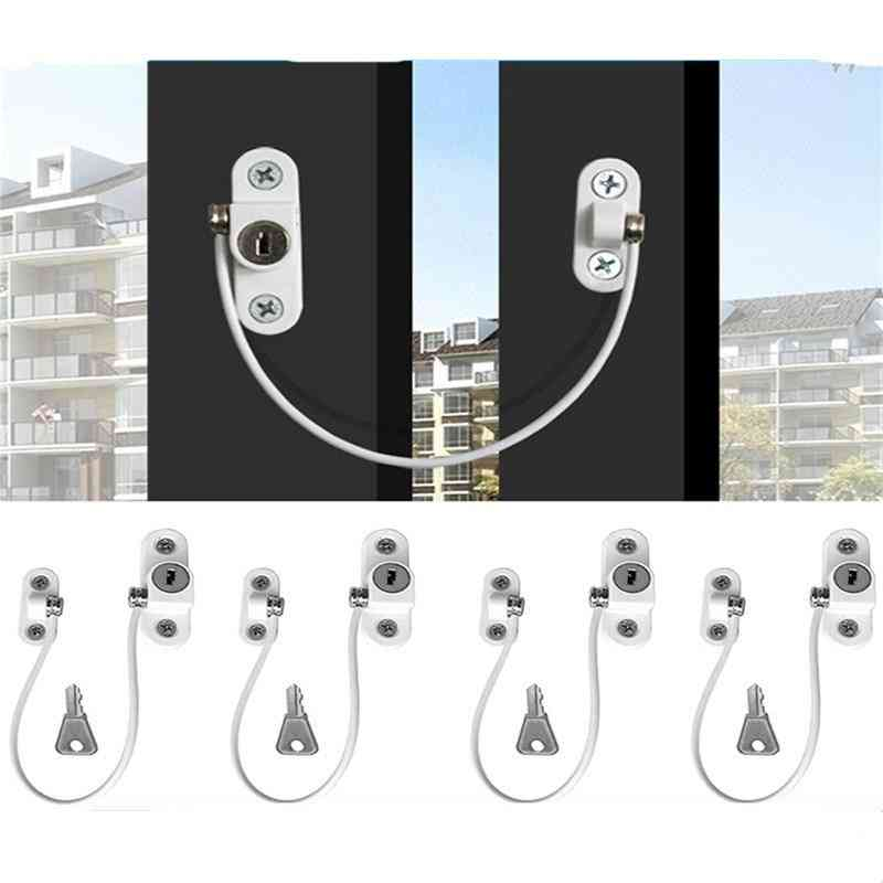 Window/door Safety Restrictor With Keys And Screws
