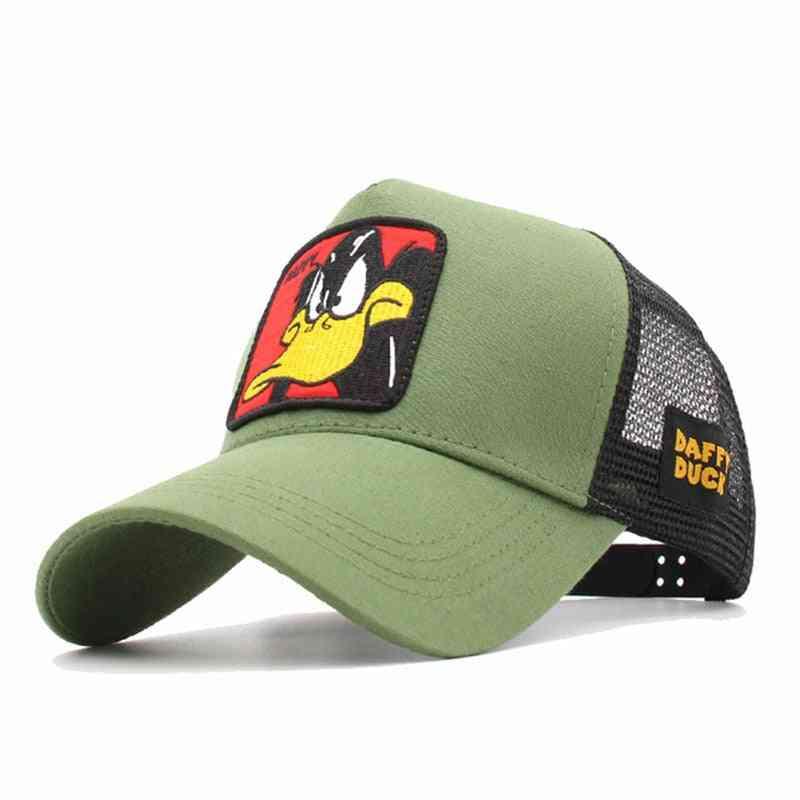 Fashion Animals Embroidery Baseball Cap, Snapback Hip Hop Hat Summer