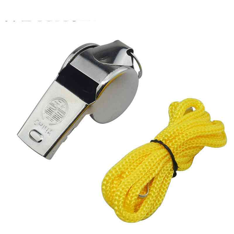 Metal Whistle With Colorful Lanyard For Sports Training