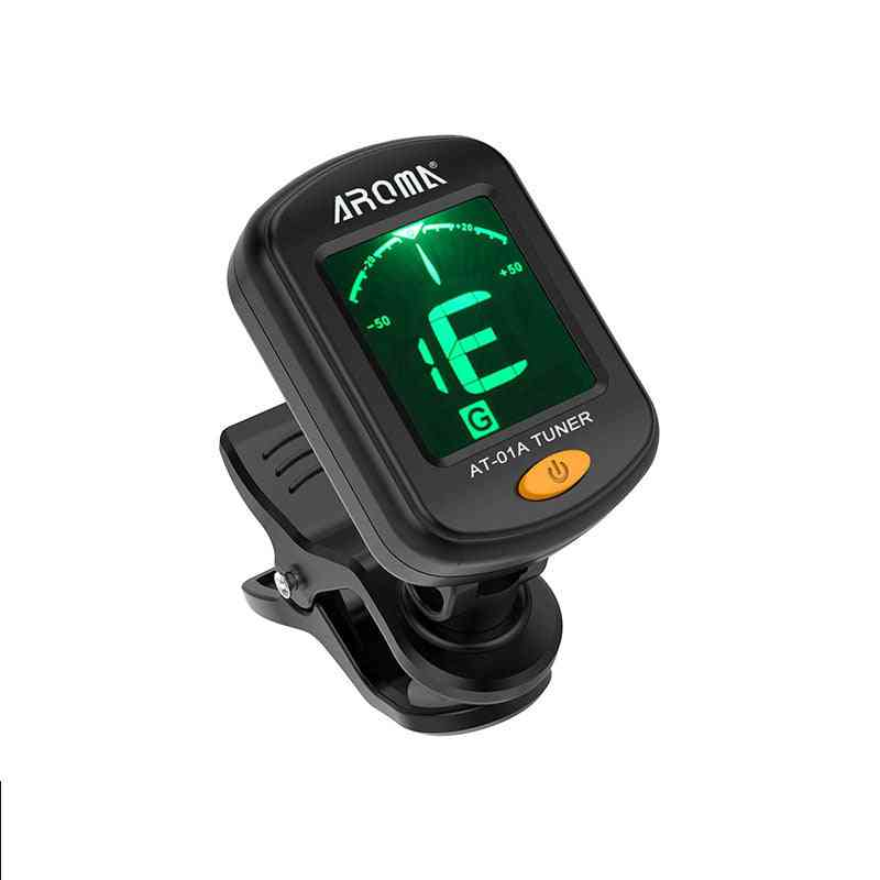 Guitar-tuner Rotatable Clip On Tuner Lcd Display