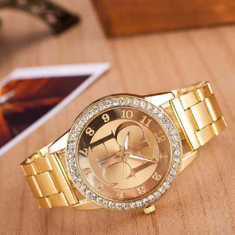 Stainless Steel Sports Watch, Quartz Women's Watches