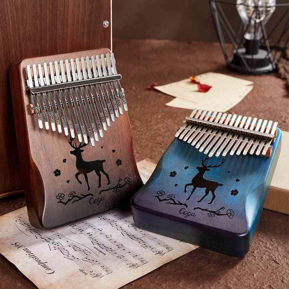 Thumb Piano Mahogany Wooden Mbira Musical Instrumentos Musicales 30 Key Instruments Calimba Machine