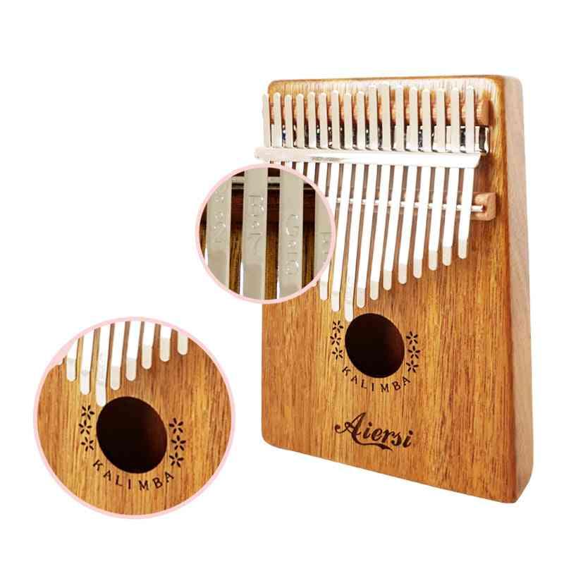 Gecko Kalimba Thumb Piano Calimba Musical With Song Instruction Book Tune Hammer And Bag