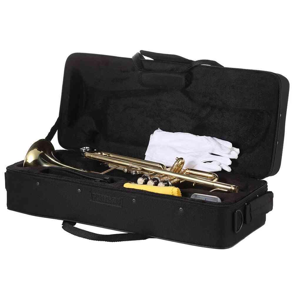 Musical Trumpet Bb B Flat Brass Trompeta Exquisite Durable Trompete Musical Instrument