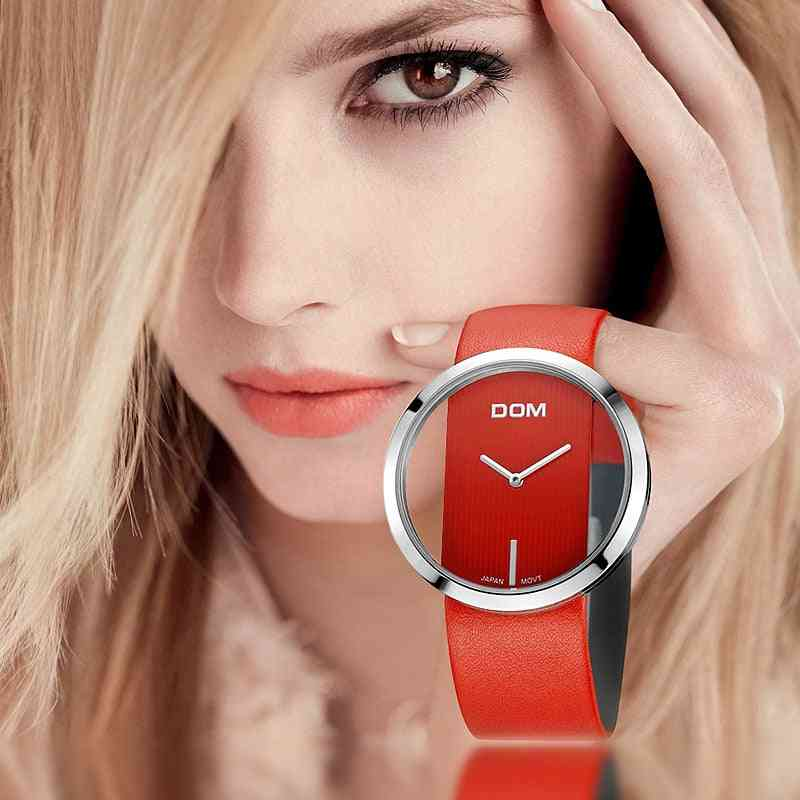Luxury Fashion Casual Waterproof Quartz Watches Genuine Leather Strap