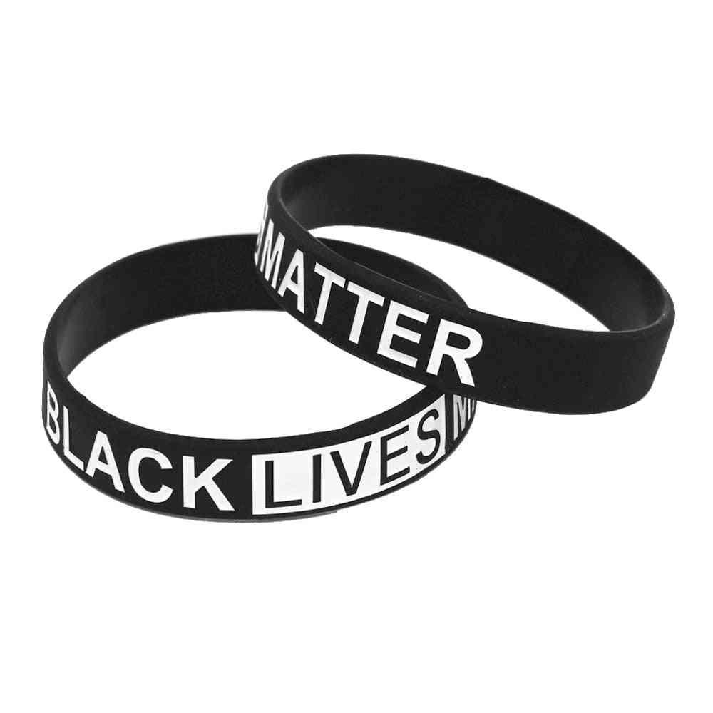 Silicone Wristband Rubber Letter Bracelet & Bangles