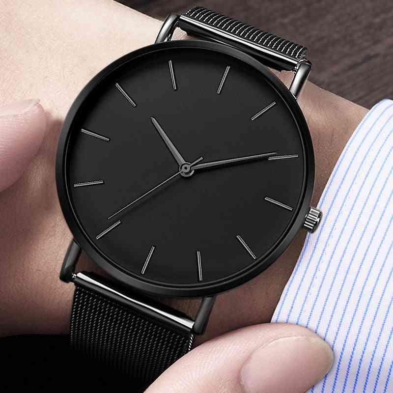 Simple Metal Hour Reloj Quartz Watch