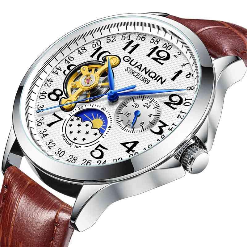 Sport Automatic  Luxury Man Skeleton Tourbillon Waterproof Mechanical Watch