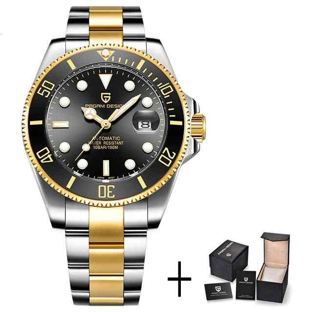 Automatic, Stainless Steel And Waterproof Mechanical Wristwatch