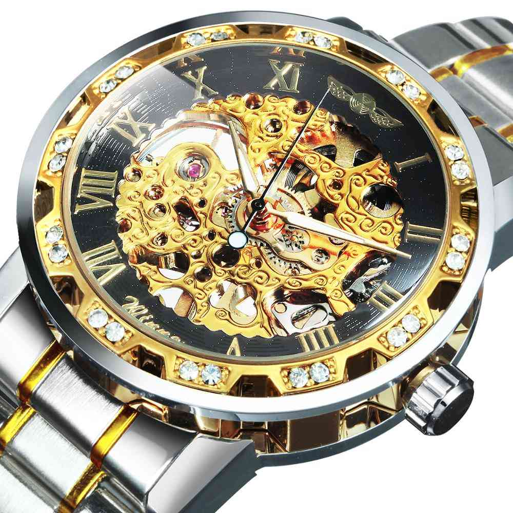 Mechanical Wrist Watch With Stainless Steel Strap