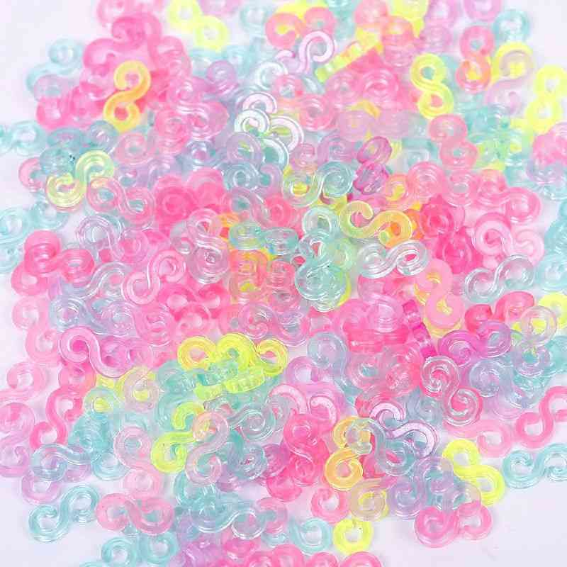 240pc Of Mix Color S-clips For Rubber Loom Bands/bracelet