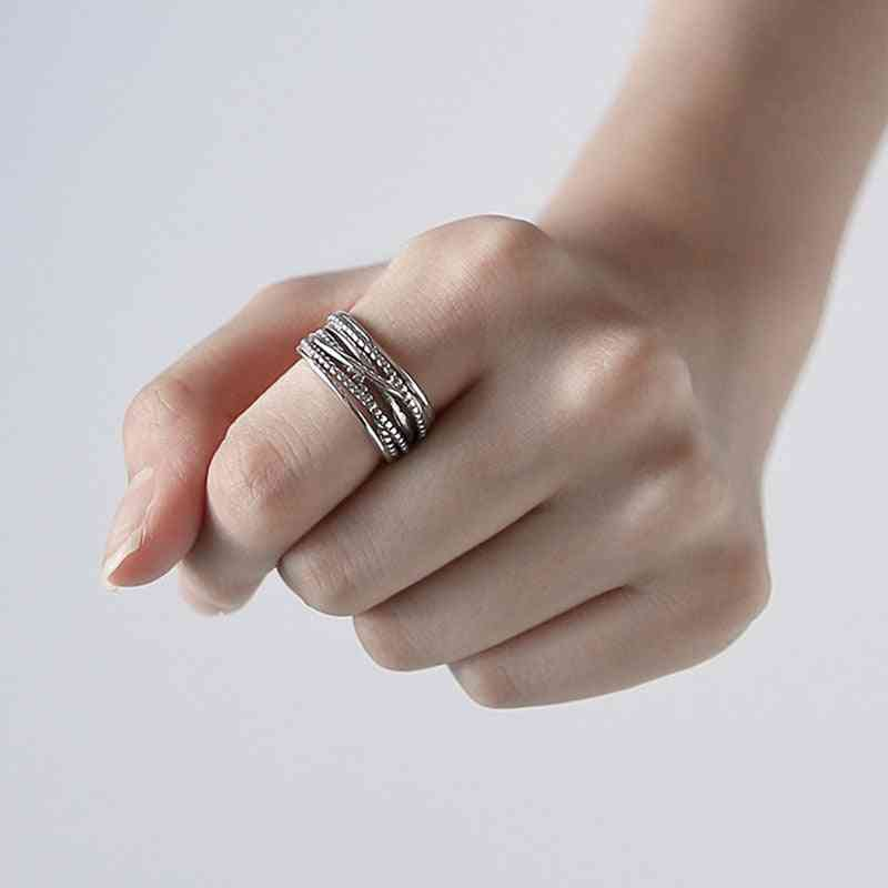 Vintage Multi Layered Large Rings For Women