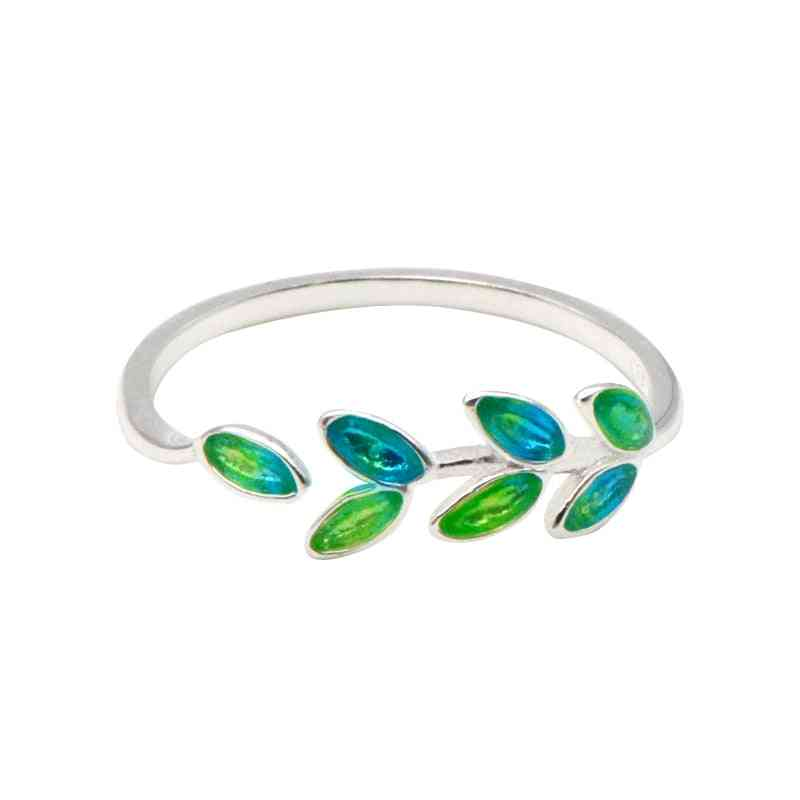 Bohemian Vintage Leaf Style Silver Rings For Women