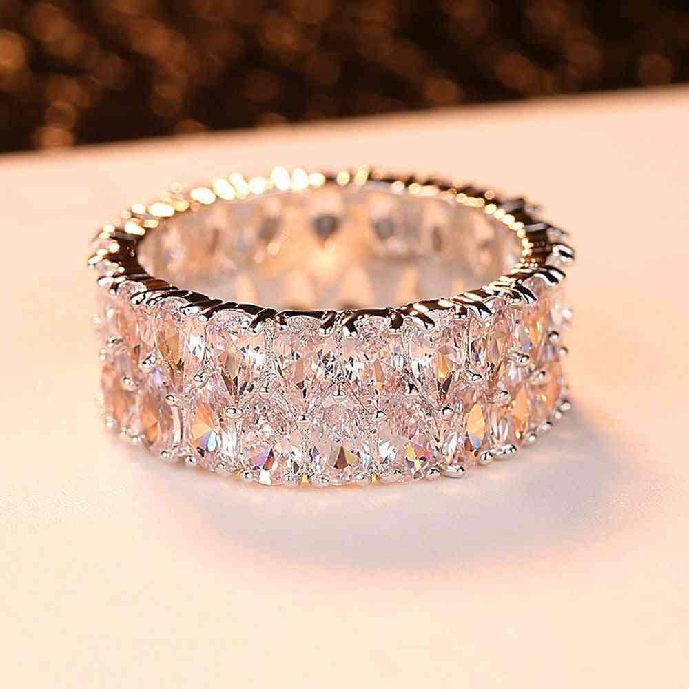 Luxury Fashion Love Engagement Vintage Rings