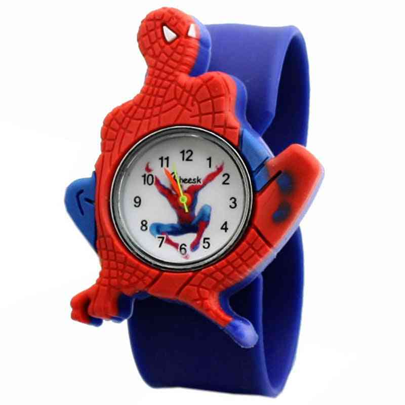 Children's Clock, Boy Spiderman Silicone Cartoon Watches