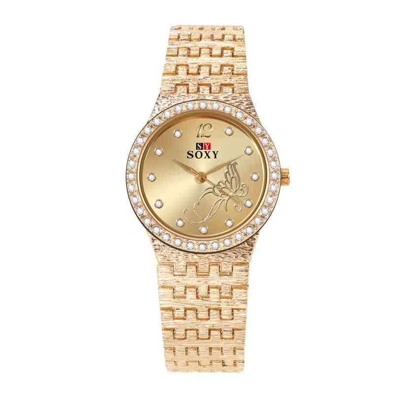 Bracelet Watches, Fashion Rhinestone Flower Butterfly Exquisite Watch