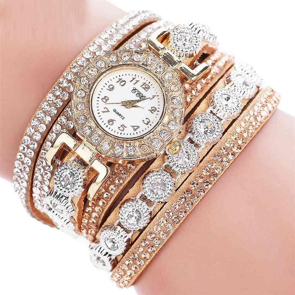 Luxury Fashion Analog Quartz Rhinestone Bracelet Watch