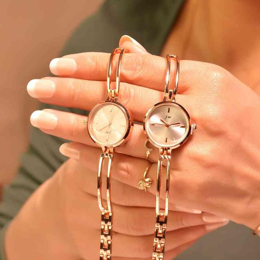 Women Bracelet Watches, Stainless Steel Quartz Wristwatches