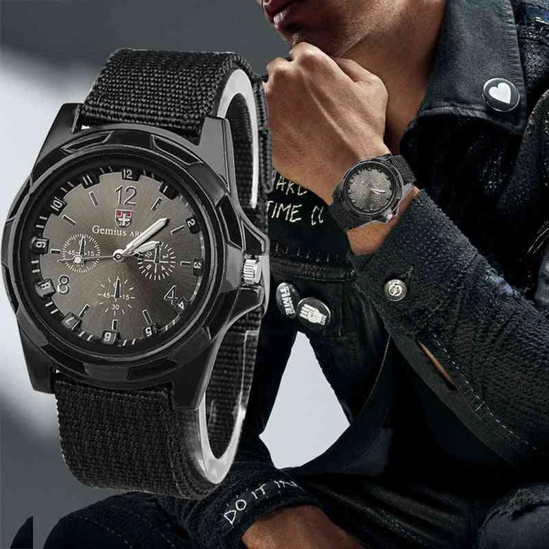 Nylon Band Military Watch, Men Army Wrist Quartz Watches