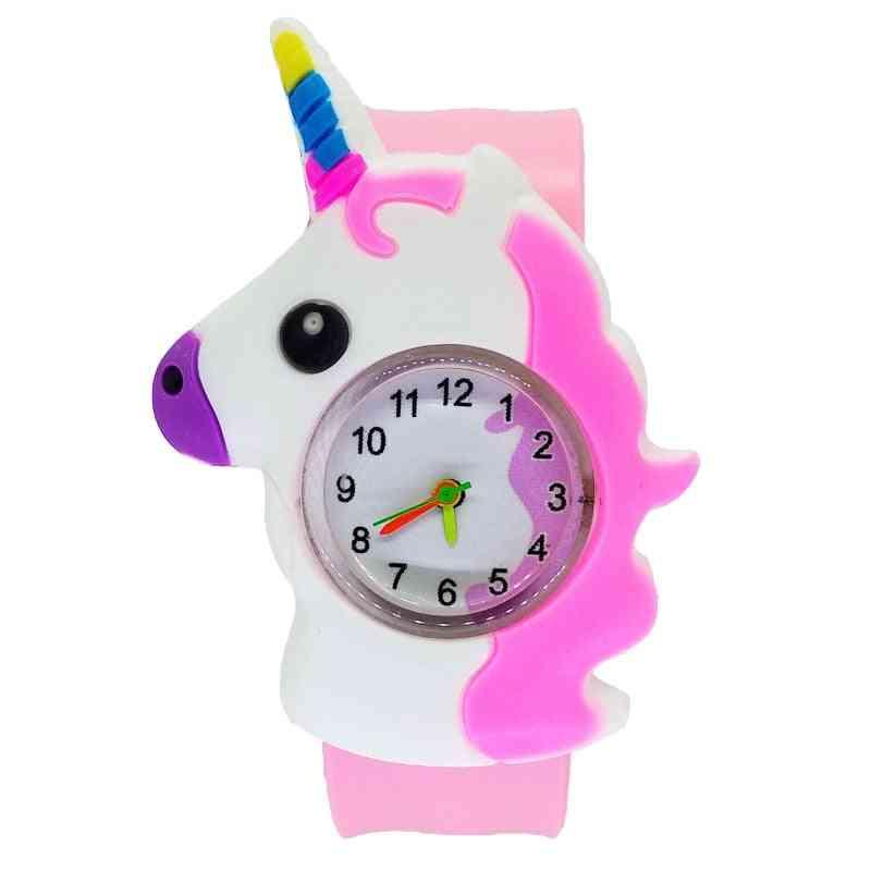 Cartoon Dinosaur Animal Watch, Clasp Circle Baby, & Clock