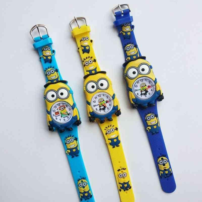 Children Leather Quartz Wristwatches, Baby Boy Clock