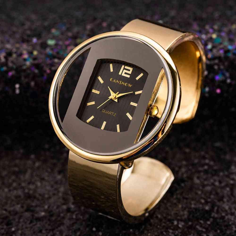 Luxury Bracelet Watch, Dial Lady Dress Quartz Clock