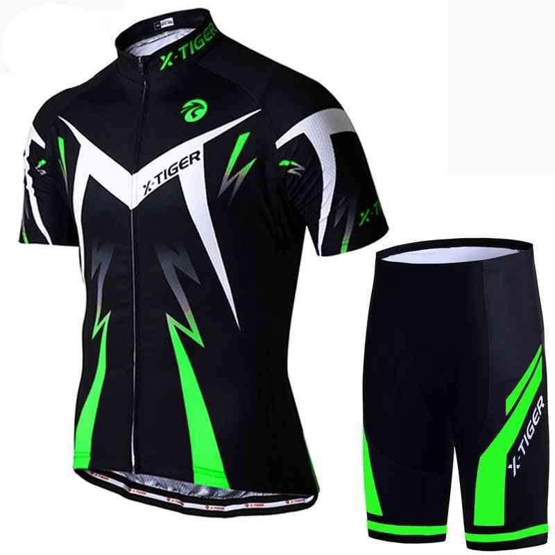 Cycling Jersey Set, Summer Wear Mountain Bike Clothes