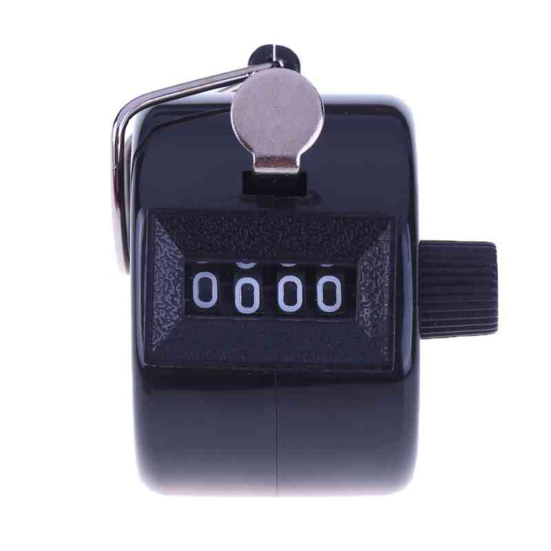 Digital Hand Tally Counter, Plastic Shell Hand Held Mechanical Manual Counting