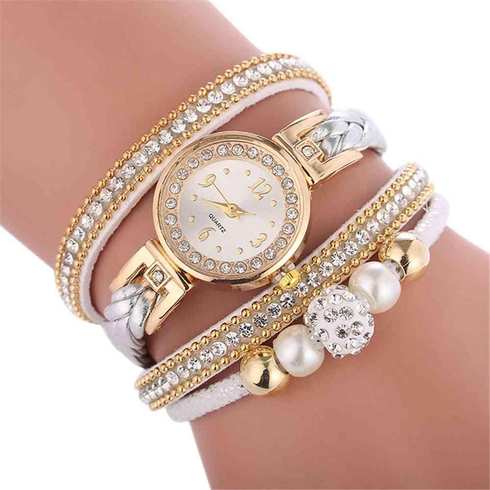 High Quality Beautiful Fashion Women Bracelet Watch Ladies Casual Round Analog Quartz Wrist Clock