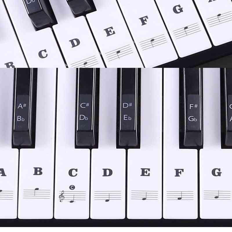 54/61 Key Electronic Keyboard Piano Sticker, 88-key Piano Stave Note Sticker