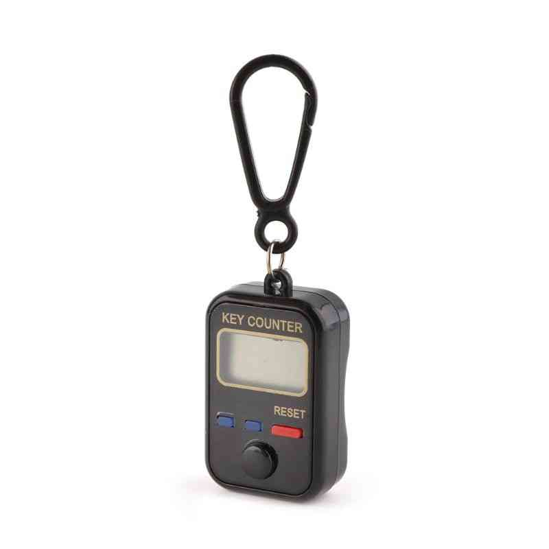Lcd Digit Electronic Tally Counter Keychain Finger