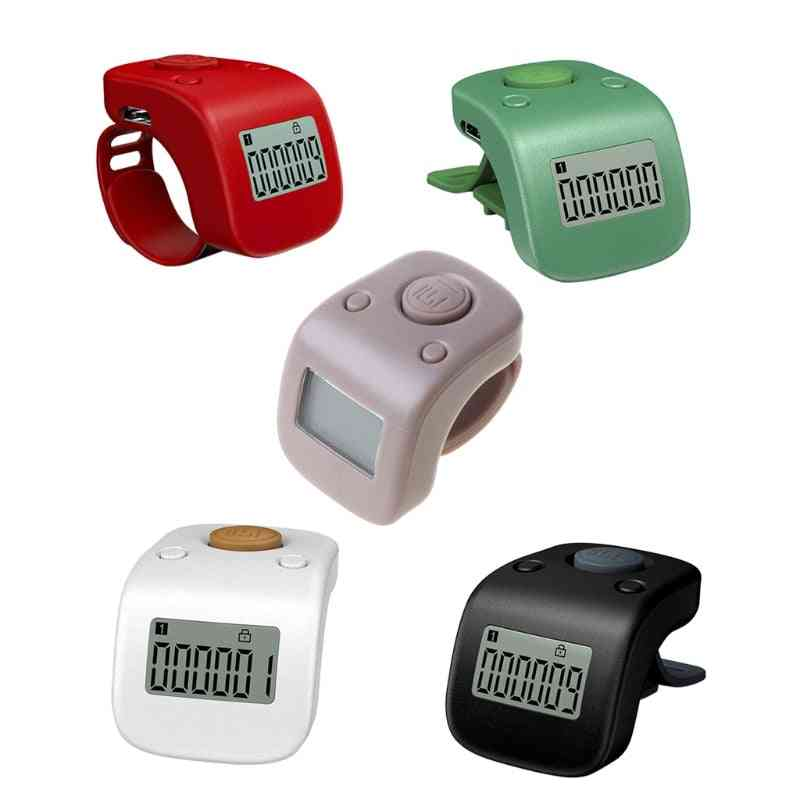 Mini Rechargeable Digital Lcd Electronic Finger Ring, Hand Tally, Buddha Beads/prayer Counter Clicker