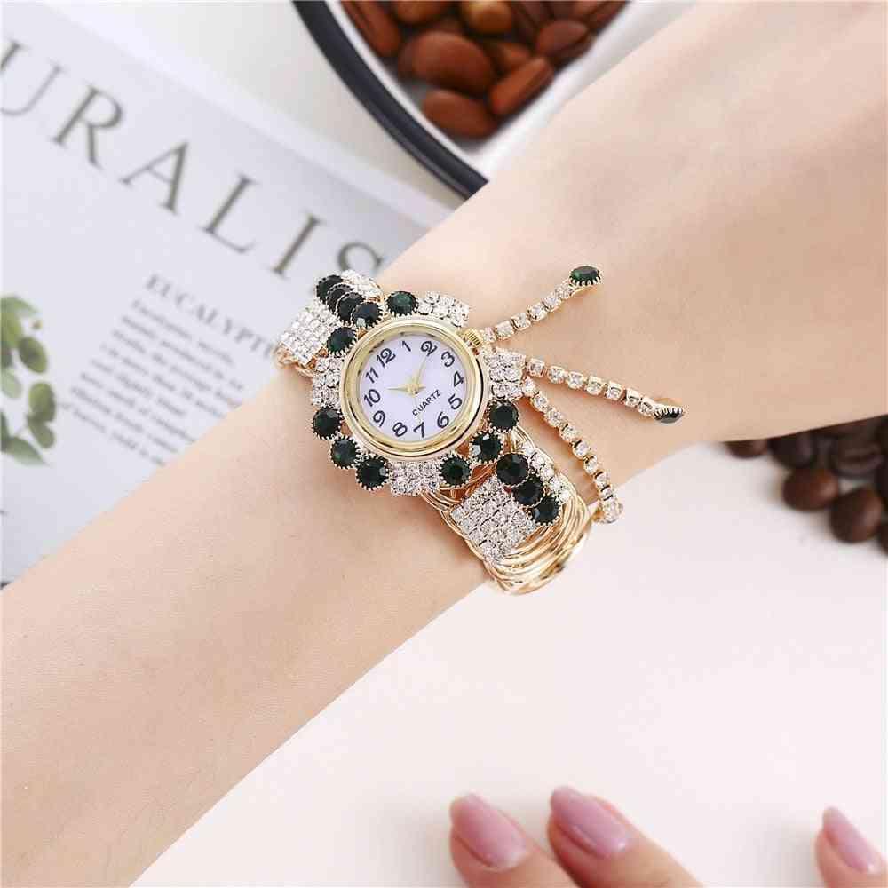 Luxury Rhinestone Bracelet Watch Wristwatch Clock