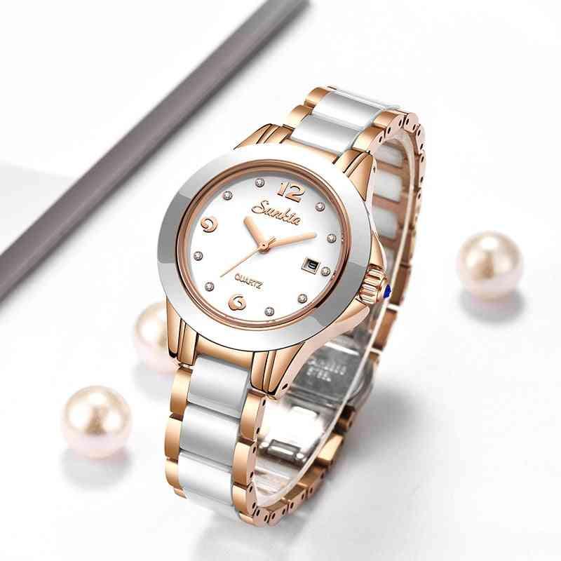 Fashion Ladies Bracelet Watches, Creative Waterproof Quartz