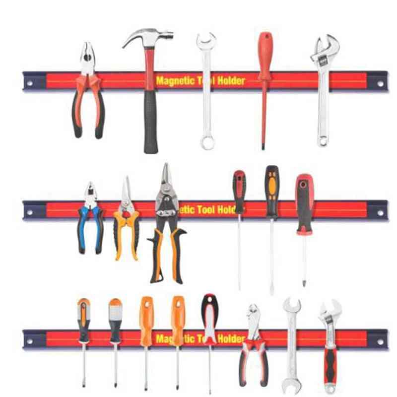 Magnetic Holder Rack Strong Metal Tool, Storage Organizer Bar For Garage Workshop
