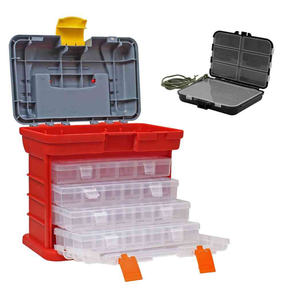 Multi-function Plastic Fishing Lures Accessories Storage Tackle Box