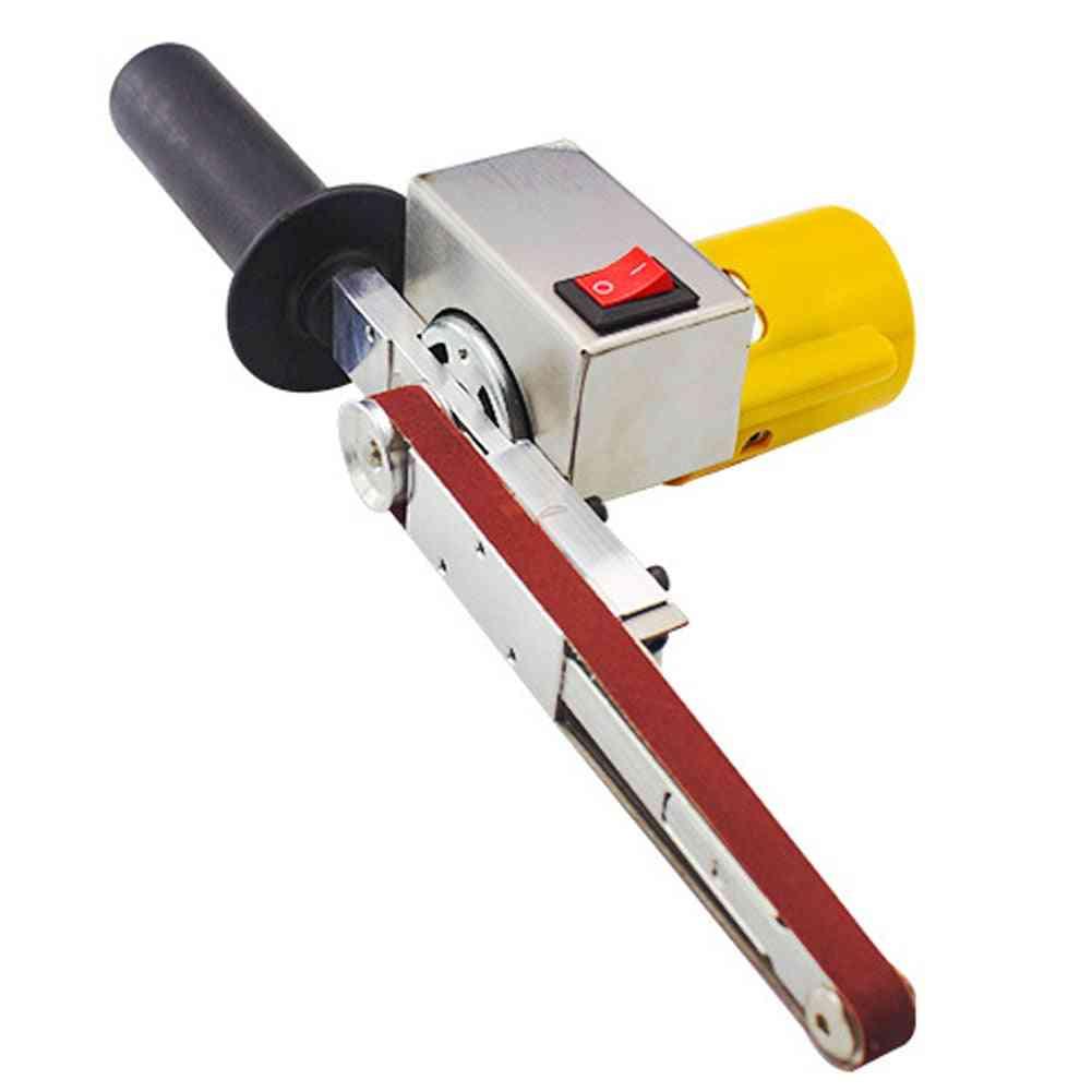 Handheld Electric Belt Sander, Mini Sanding Machine Angle Grinder