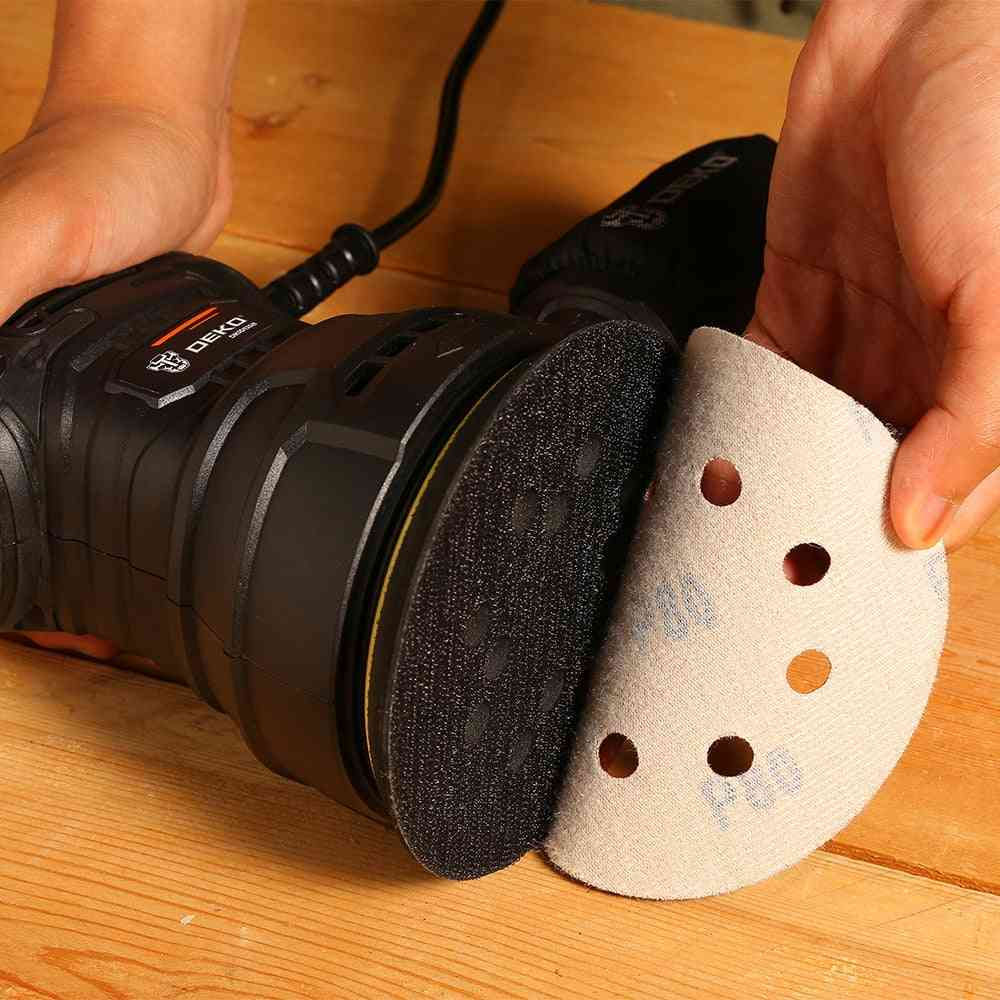 Orbit Sander With Dust Exhaust And Hybrid Dust Canister