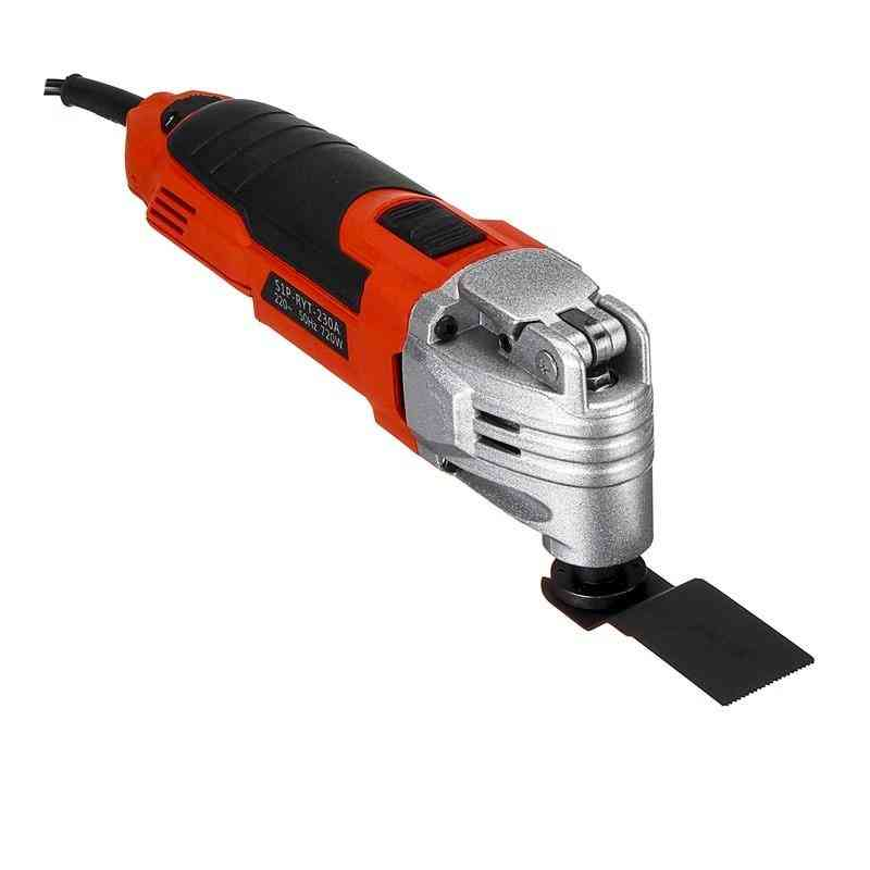 Oscillating Tool With Sanding Pad, Sandpaper And Soft-metal Plunge Blade