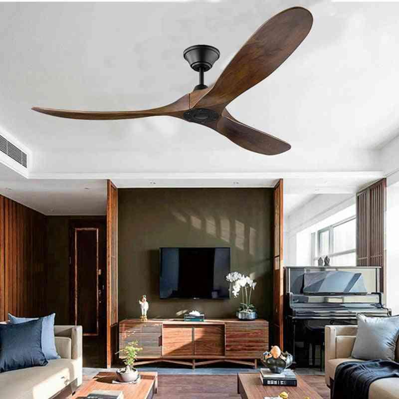 Industrial Vintage Wooden Ceiling Fan