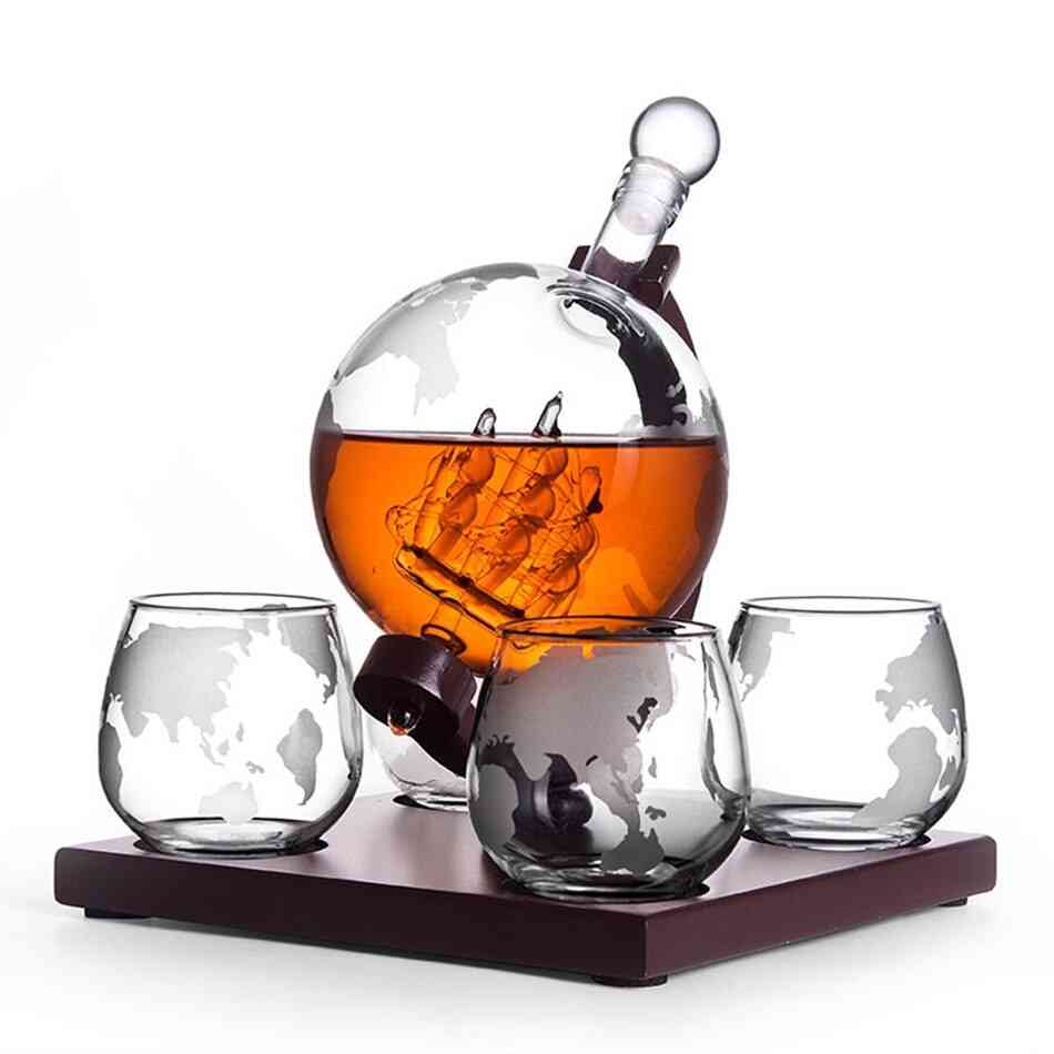 Creative Wine Bottle And Glass Set