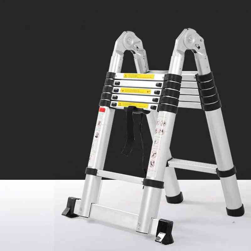 Portable Telescopic Ladder With Board - Multipurpose Thickening Folding Stairs