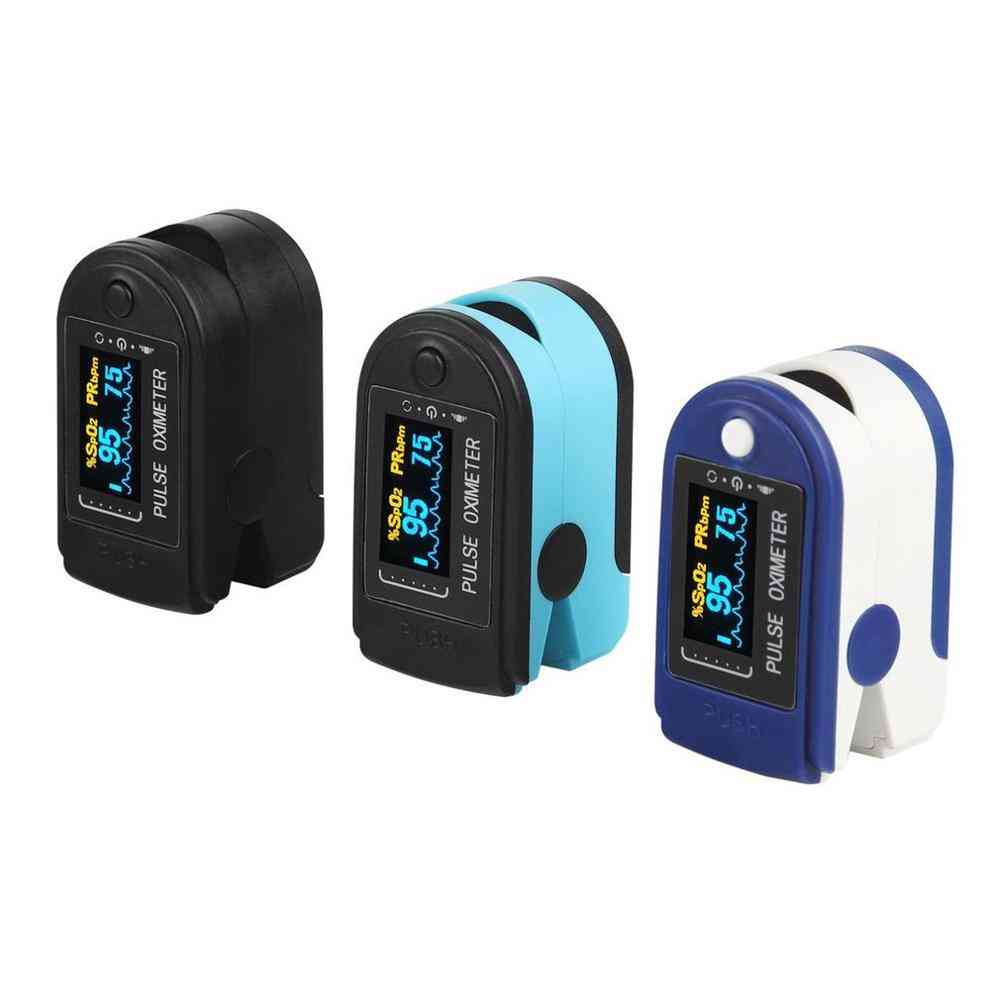 Finger Oximeter Monitor Portable Clip, Heartbeat Pulse Rate, Saturation Home Fingertip