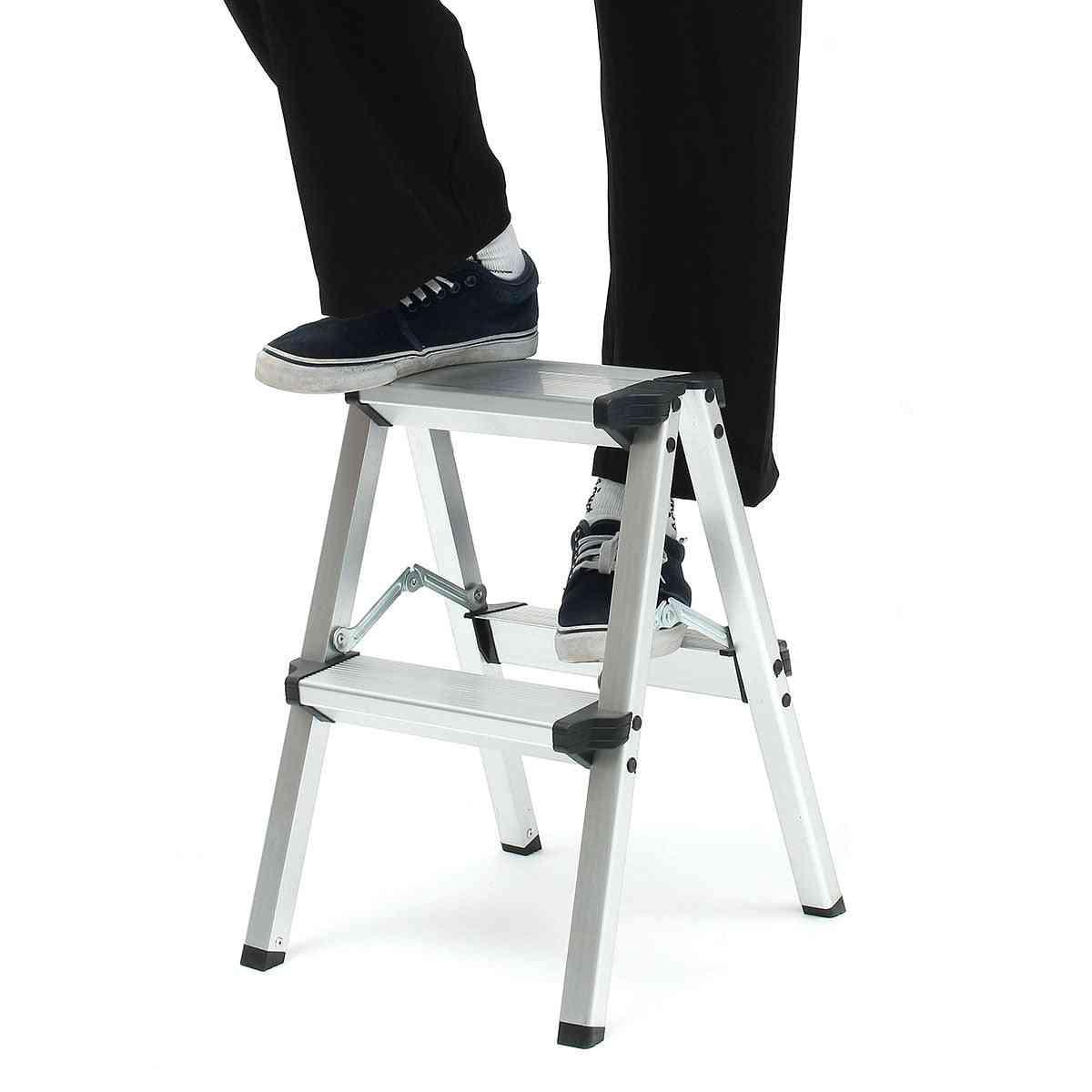 Maximum Load Step Stool Anti Slip Safety Folding Ladder