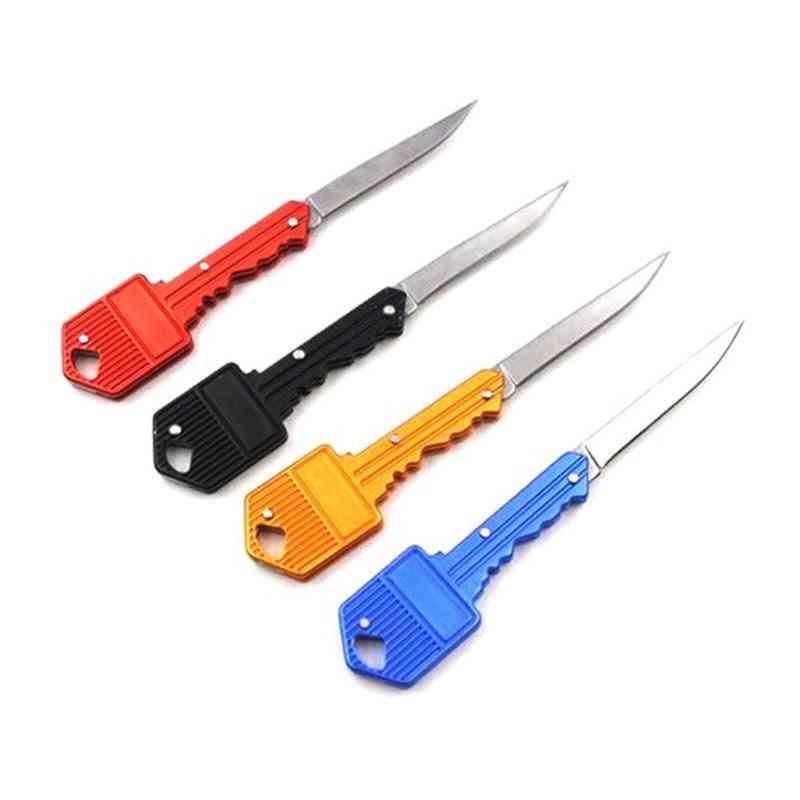 Mini Pocket Multi Package Key Camp Peeler, Knife, Blade
